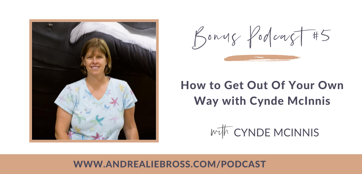 Bonus Podcast #5: How to Get Out Of Your Own Way with Cynde McInnis